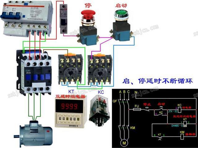 电机水泵接线
